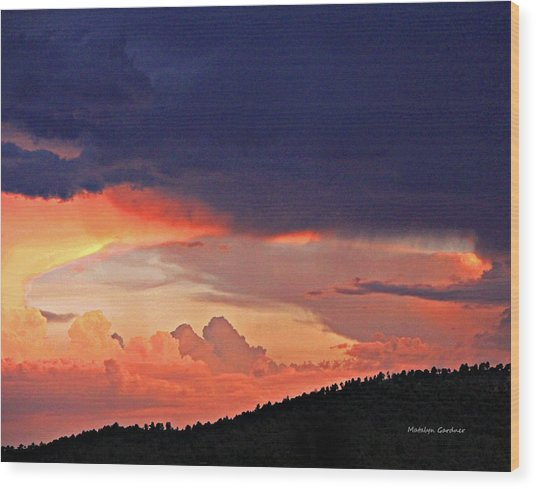 Mazatzal Peak Sunset Wood Print