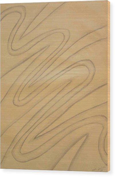 Maze Of Life Drawing Wood Print
