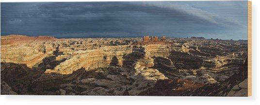 Maze Panorama Wood Print