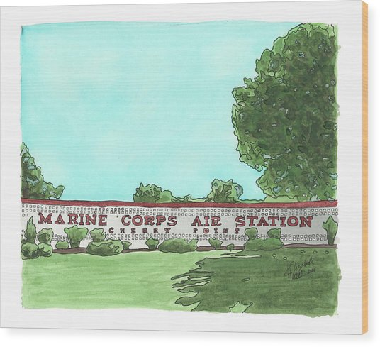 Mcas Cherry Point Welcome Wood Print