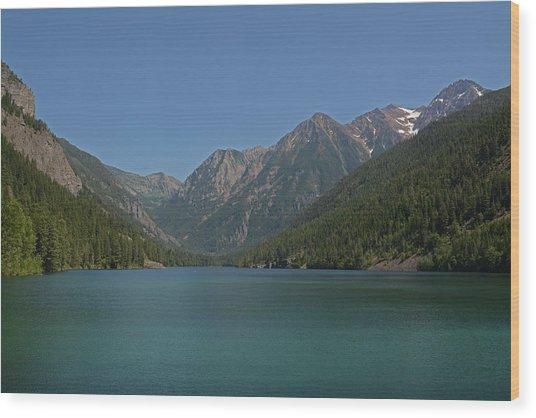 Mcdonald Lake- Ronan Montana Wood Print