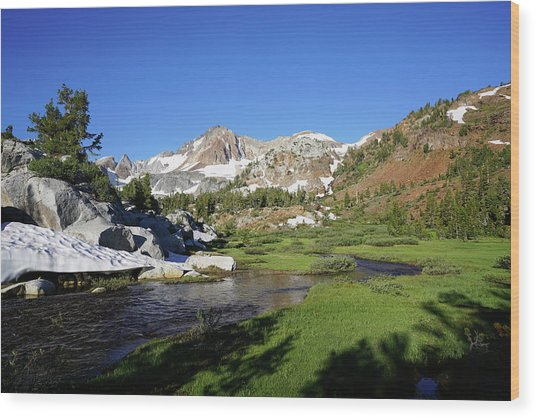 Mcgee Creek Below Red And White Mountain Wood Print by Dale Matson