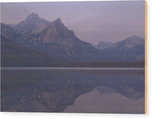 Mcgowen Peak At Sunrise Wood Print by John Higby