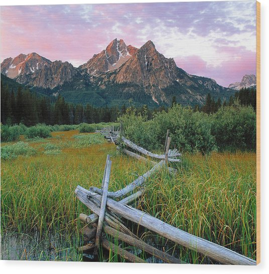 Mcgown Peak 2 Wood Print by Leland D Howard