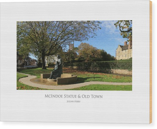 Wood Print featuring the digital art Mcindoe Statue by Julian Perry