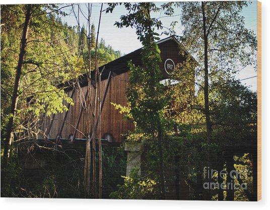 Mckee Bridge Wood Print