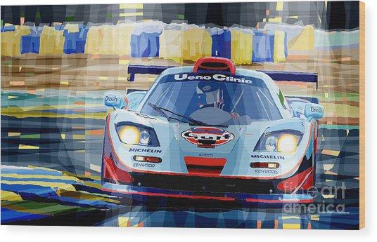 Mclaren Bmw F1 Gtr Gulf Team Davidoff Le Mans 1997 Wood Print
