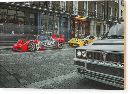 Mclaren F1 Gtr With Speciale And Integrale  Wood Print