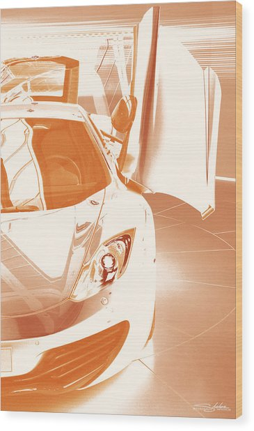Mclaren Mp4-12c Wood Print