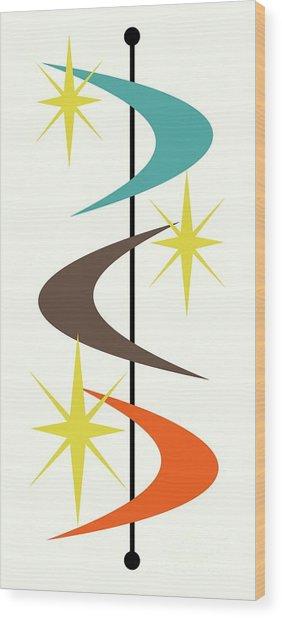 Mcm Shapes 2 Wood Print