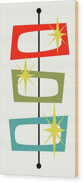 Mcm Shapes 3 Wood Print