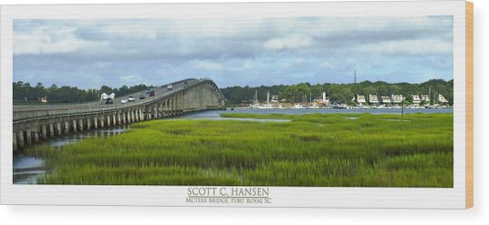 Mcteer Bridge Wood Print