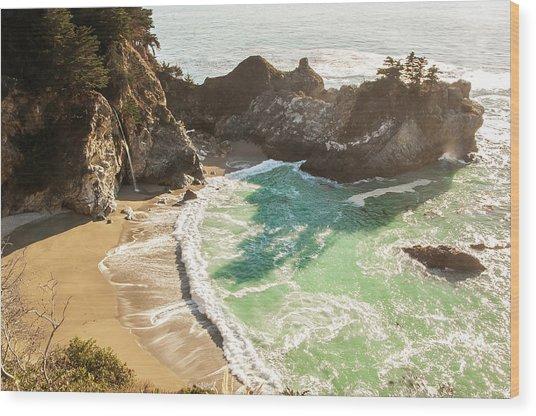 Mcway Falls, California Wood Print