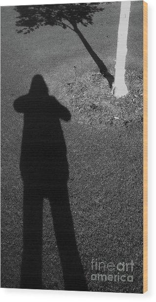 Me And My Shadow Wood Print