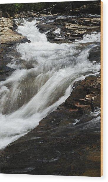 Meadow Run Water Slide 2 Wood Print
