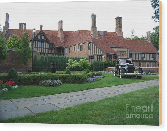 Meadowbrook Hall Wood Print