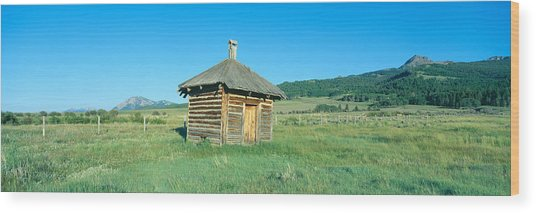 Meat House, Old Dude Ranch, Centennial Wood Print