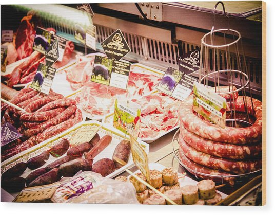 Wood Print featuring the photograph Meat Market by Jason Smith