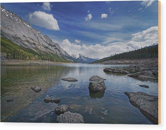 Medicine Lake, Jasper Wood Print