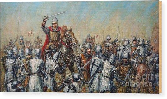 Medieval Battle Wood Print