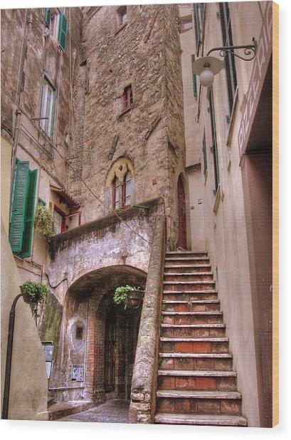 Medieval Borgo In Nettuno Wood Print