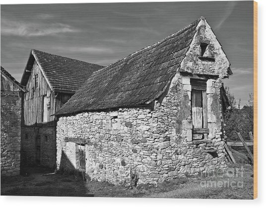 Medieval Country House Sound Wood Print