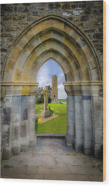 Wood Print featuring the photograph Medieval Irish Countryside by James Truett