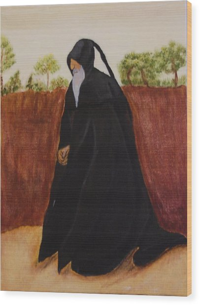 Medieval Man Wood Print by Michele Edler