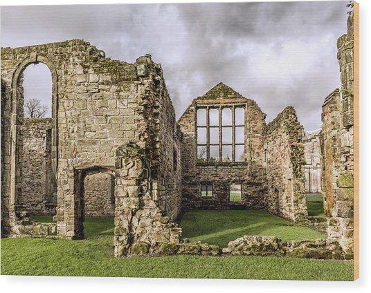 Medieval Ruins Wood Print