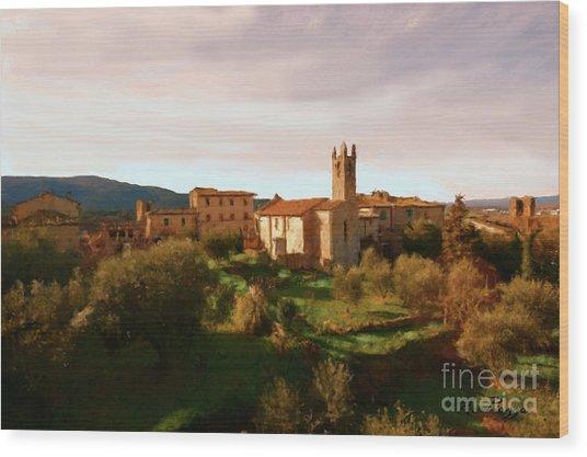 Medieval Tuscany Wood Print
