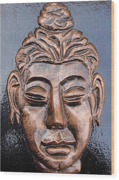 Meditating Buddha Wood Print by Rajesh Chopra