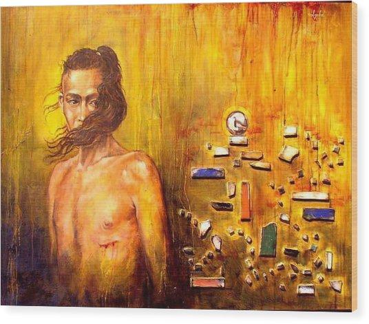 Meditation 2 Wood Print by Ixchel Amor