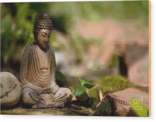 Meditation Wood Print