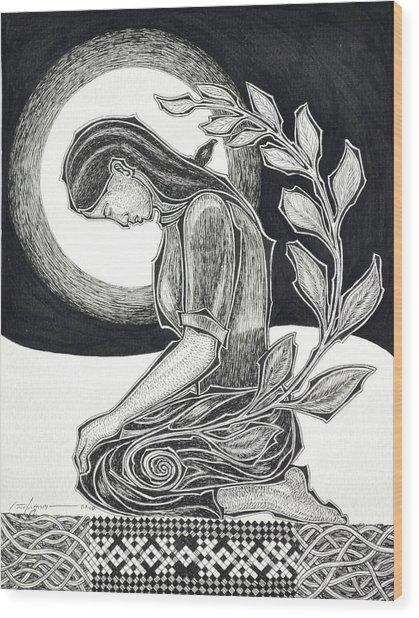 Meditation Wood Print by Raul Agner