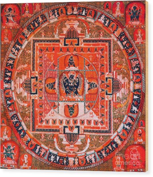 Meditation Yoga Mandala Yuan Dynasty Wood Print