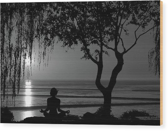 Meditative State Wood Print