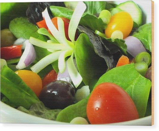 Mediterranean Salad Wood Print