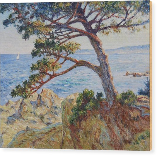 Mediterranean Sea Wood Print