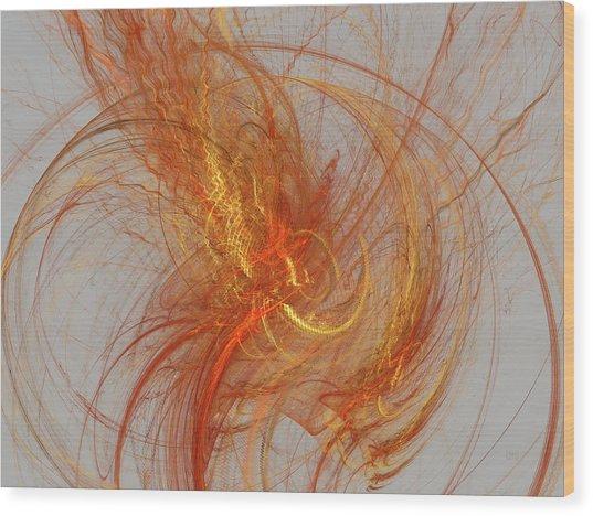 Medusa Bad Hair Day - Fractal Wood Print