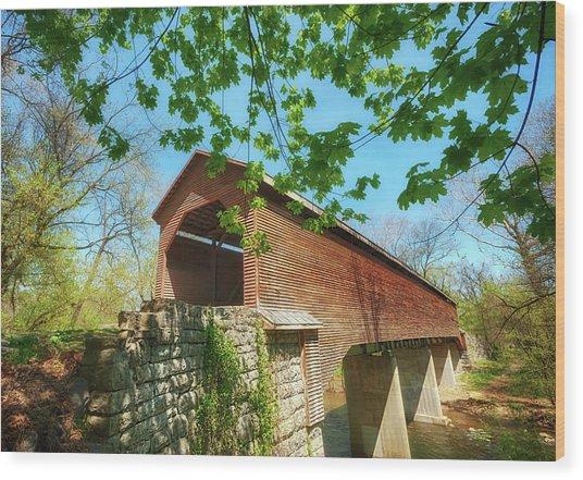 Meem's Bottom Bridge In Spring Wood Print