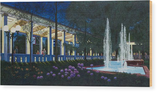 Meet Me At The Muny Wood Print