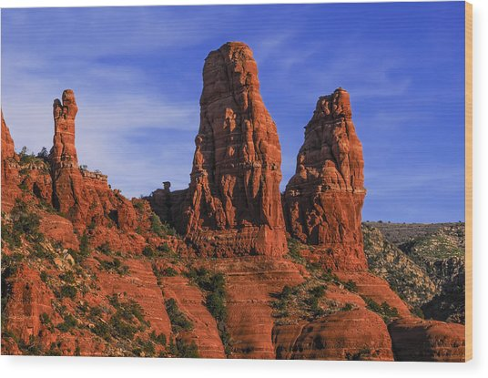 Megalithic Red Rocks Wood Print