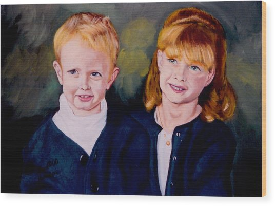 Megan And Justin Wood Print by Stan Hamilton