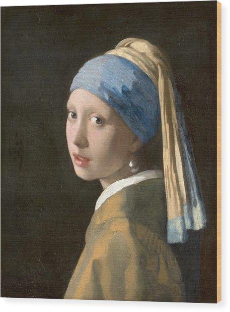 Meisje Met De Parel Wood Print