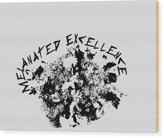 Wood Print featuring the painting Melanated Excellence IIi by Alkebulan