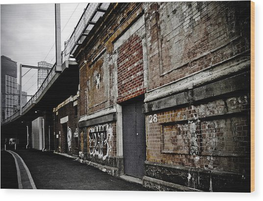Melbourne Alley Wood Print