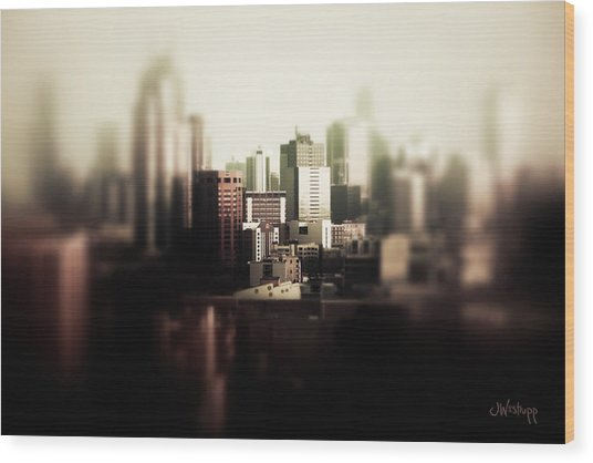Melbourne Towers Wood Print