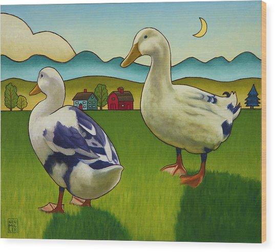 Melissas Ducks Wood Print
