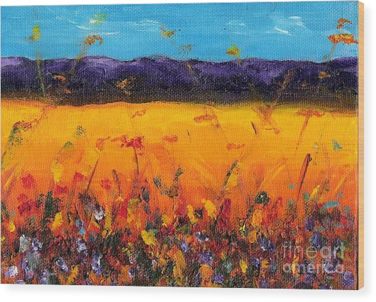 Melissa's Meadow Wood Print