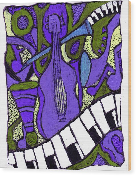 Melllow Jazz Wood Print